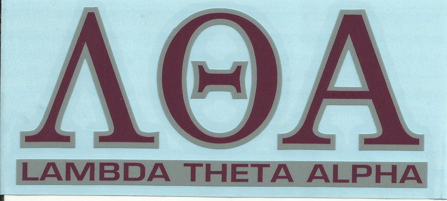 Lambda Theta Alpha Letters And Name Decal